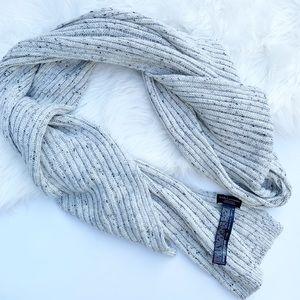 Zara Basic Ribbed Knit Scarf in Oatmeal Grey
